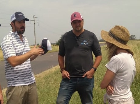 Reinoso and Machado speak with a prominent Brazilian farmer about her operations.