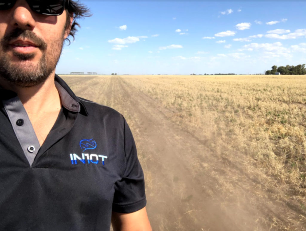 Marcos Machado, SA Agronomy Lead, paused to take a photo while visiting a grower's field in Argentina.